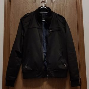 Zara Black Funnel Neck Field Jacket